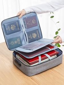 证件收纳包盒家用家庭多层大容量多功能箱文件证件卡包户口整理袋