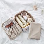 手提化妆品收纳包化妆袋双层透明洗漱包化妆包
