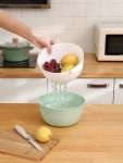 双层洗菜盆篮子洗水果神器沥水篮水果盘滤水蓝沥水筐漏水篮