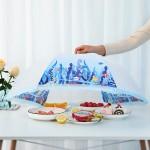 可折叠防苍蝇盖菜罩食物饭菜罩子餐桌剩菜罩家用桌罩遮菜盖伞