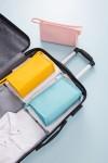 新款PU化妆包公文包式收纳包糖果色化妆品收纳包