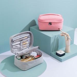 旅行化妆包便携大容量收纳包出差防水手提女性化妆品袋洗漱包