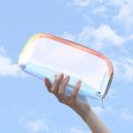 TPU镭射化妆包防水炫彩化妆包收纳包三件套大中小化妆包